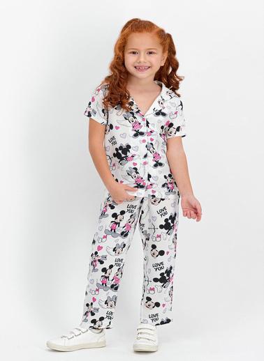 Mickey Mouse Pijama Takım Beyaz